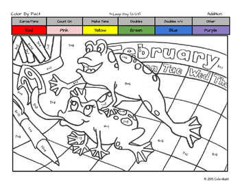 Leap Day Coloring Page - by Math Skill!