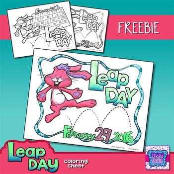 Leap Day Coloring Sheet {FREEBIE}