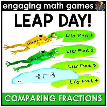 Leap Day Comparing Fractions - Numbers Version