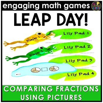 Leap Day Comparing Fractions (Pictures Version)