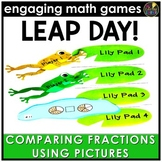 Leap Day Comparing Fractions - Pictures Version