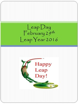 Leap Day February 29th Leap Year 2016