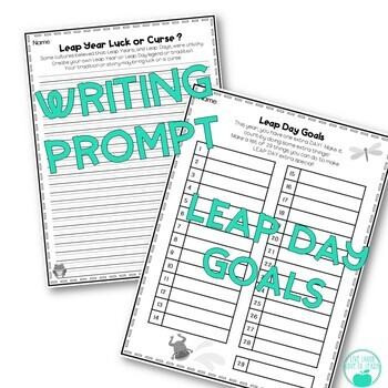Leap Day Fun! Reading Passage, Writing Prompt, & Math Activity Page!