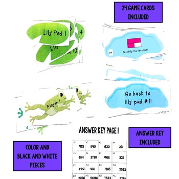 Leap Day Identify Fractions - Pictures Version