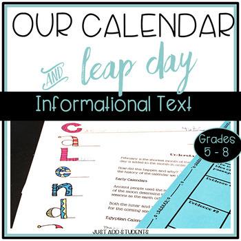 Our Calendar - {Informational Text & Creative Writing}