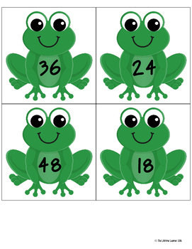 Leap Day Multiplication Facts Matching Game