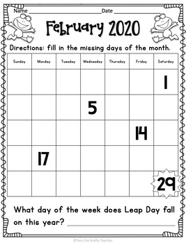Leap Day or Leap Year Activities