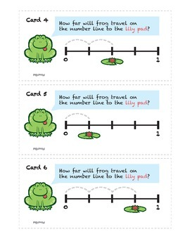 Fractions on a Number Line: Leap Frog Scavenger Hunt {3.NF.A.2a, 3.NF.A.2b}