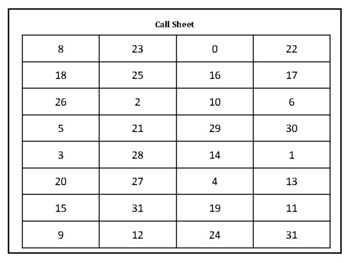 Leap Frog Game: Spanish Numbers (0-31)