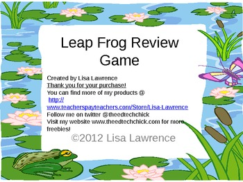 Leap Frog Powerpoint Review Game