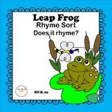 Leap Frog Rhyme Sort