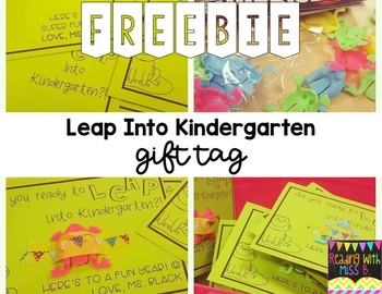 Leap Into Kindergarten - Gift Tag - FREEBIE