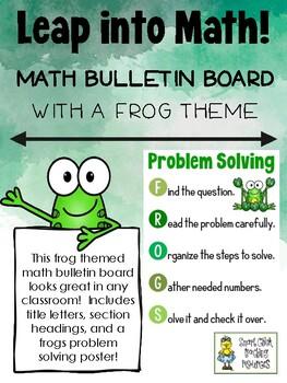 Leap Into Math! - Frog-themed Math Bulletin Board Set-Up