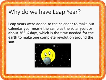 Leap Year Fun Facts PowerPoint