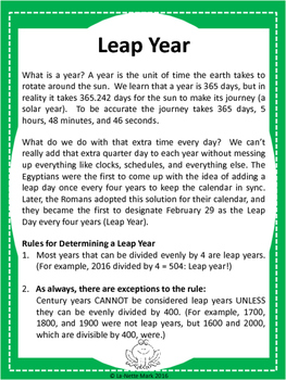 Leap Year / Leap Day