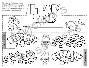 Leap Year Activiites : Crowns and Wristbands - Leap Year Craft