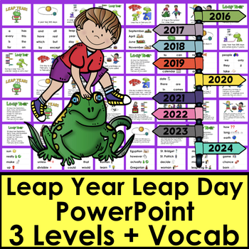 Leap Year PowerPoint - 4 Levels + Vocab