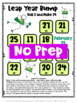 Leap Year Math Games Freebie