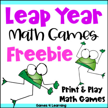 photograph about Leap Year Printable known as Jump Calendar year Math Online games Freebie