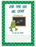 Leap Year ABC Order Freebie
