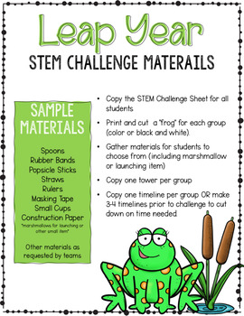 Leap Year Activities 2020 - Reading, Writing, Math & STEM Challenge - Leap Day