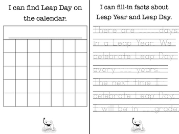 Leap Year Activity Booklet