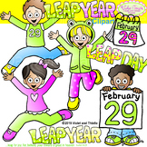 Leap Year Clipart {Kids Jumping Clipart}
