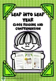 Leap Year Close Reading Comprehension