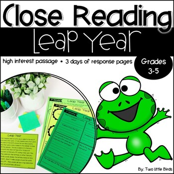 Close Reading Passage & Activities for Leap Year
