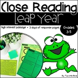 Leap Year 2020: Close Reading Passage & Activities for Leap Year