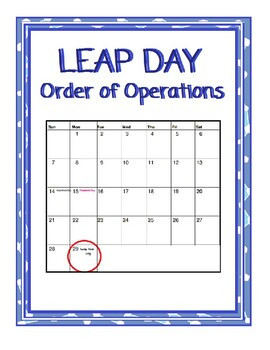 Leap Year Day-Order of Operations