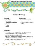 Leap Year Froggy Puppet and Poem