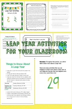 Leap Year - Leap Day - February 29th Activities