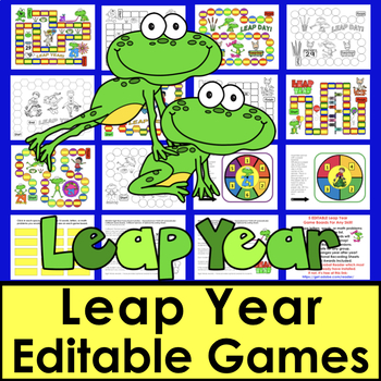 Leap Year Leap Day Activities Sight Word Games Editable for Any List