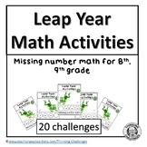Leap Year Math Activities
