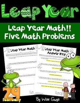 Leap Year Math Activity