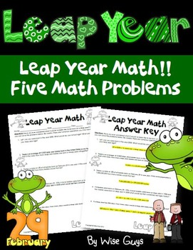 Leap Year Math Activity
