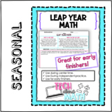 Leap Year Math - Word Problems & Leap Year Information!