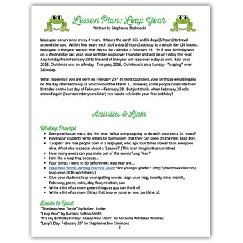Leap Year Musical Lesson Plan