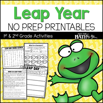 picture regarding Leap Year Printable identify Soar Yr No Prep Printables