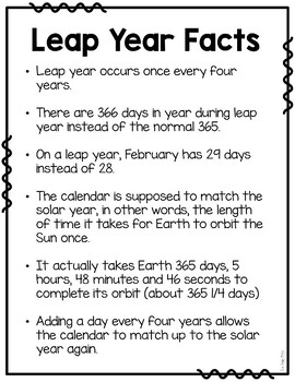 Leap Year Pack: ELA and Math resources