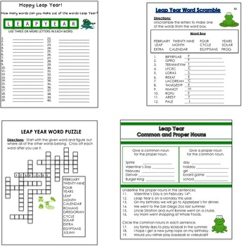 Leap Year Student Packet