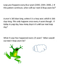 Leap Year Word Problems