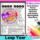 Leap Year Word Search Activity