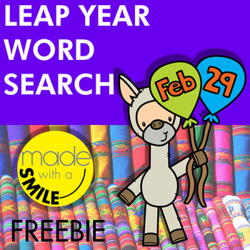 Leap Year Word Search FREEBIE