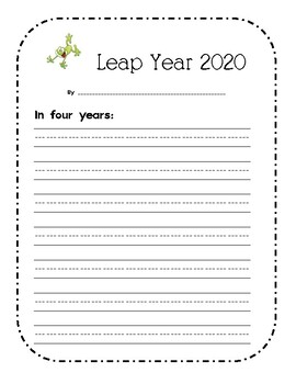 Leap Year Writing Activities