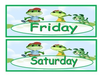 Leap frog days of the week and months of the year