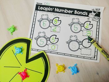 Number Bonds Small Group Activity: Leap Frog (Bonds of 5)