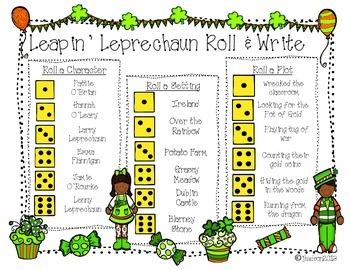 Leapin' Leprechaun Roll & Write