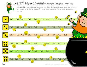 Leapin' Leprechauns! ~Multiplication Math Fact Fluency Game~